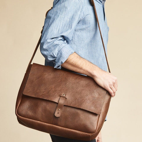 NISOLO Loreto Messenger Bag Chestnut