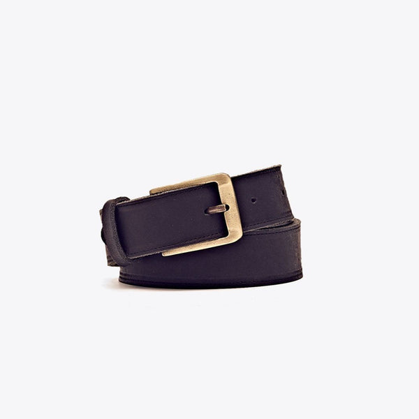 NISOLO Owen Men's Black Leather Belt