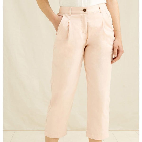 Anwen Cropped Trousers In Pink