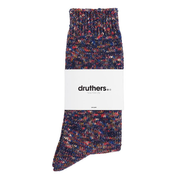 Drutherswear Recycled Cotton Melange Men's Crew Socks