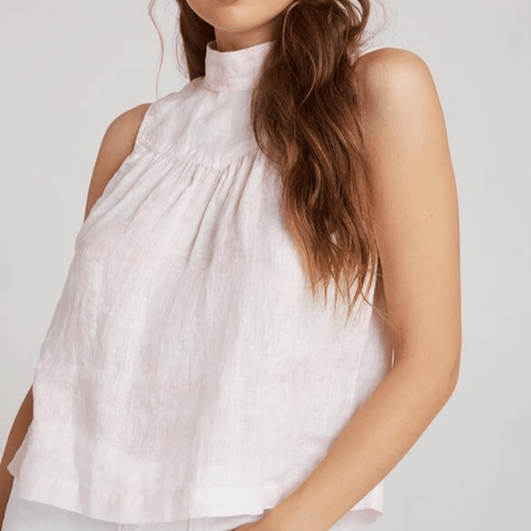 Bella Dahl Sleeveless Mock Neck Button Back_Front