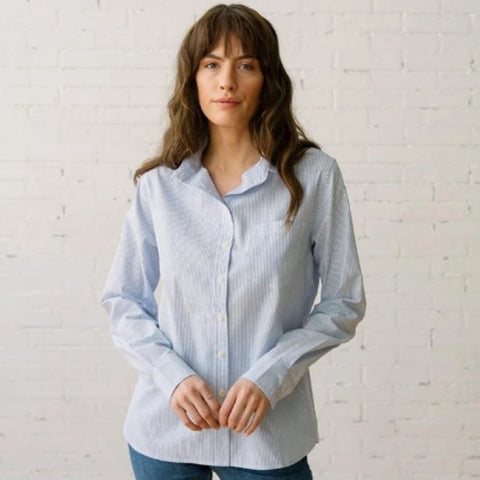 Margot Indigo Button-Up