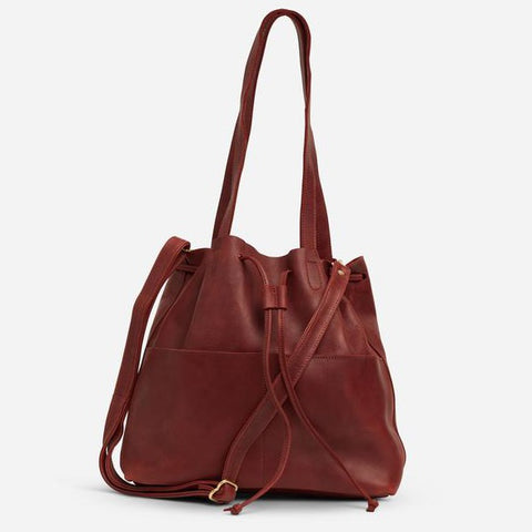 Emma Bucket Bag - clay red