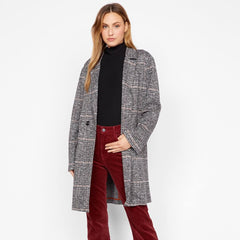 Carlyle Coat Abstract Plaid ,Styled