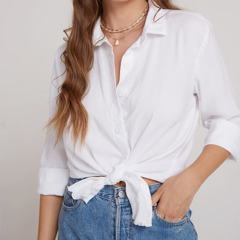 3/4 SLEEVE BUTTON DOWN