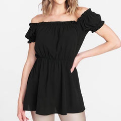 Tall Drop Shoulder Blouse in Black