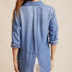 SPLIT BACK BUTTON DOWN, back profile