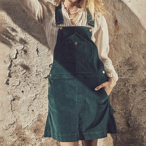 York Corduroy Overall Dress