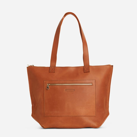 Entoto Zip Tote - Rust brown