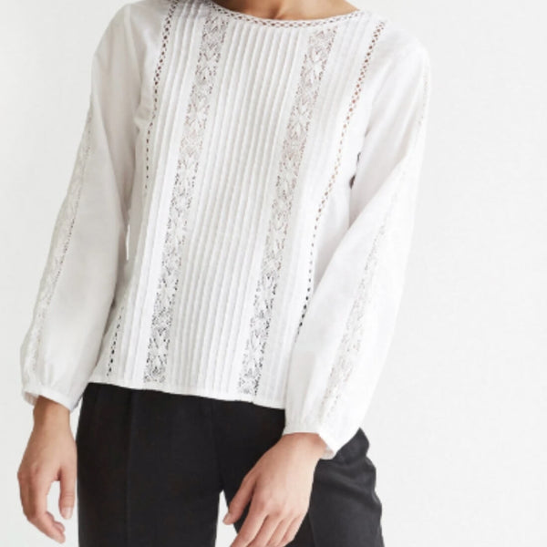 The Lace Button Up Blouse