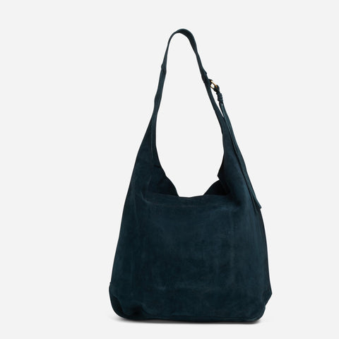 Mimi Shoulder Bag - Blue suede