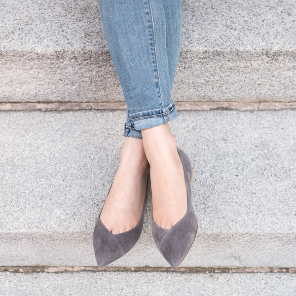 ALLY Seize the Gray Suede Flat