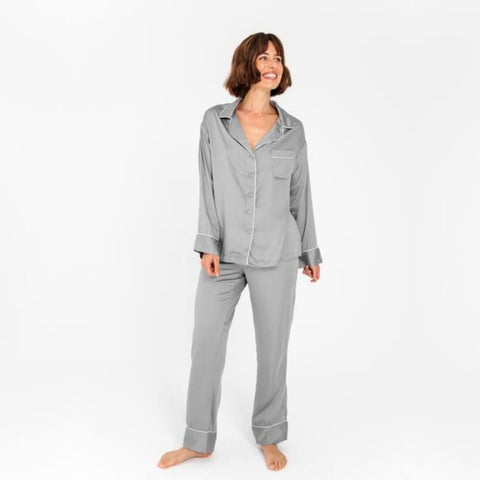 ETTITUDE - Bamboo Charcoal Long Sleeve PJ Shirt