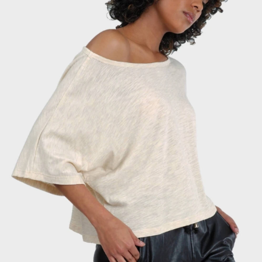 Lumi crop top, side profile
