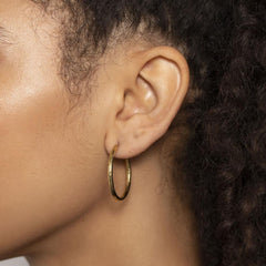 Medium Hammered Hoop Earrings