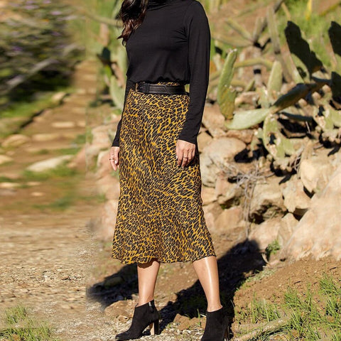 Styled Bias Cut Midi Skirt