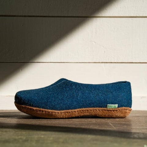 Kyrgies All Natural Molded Sole - High Back - Heathered Navy Mens
