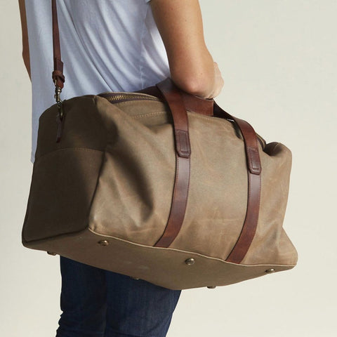 NISOLO Luis Weekender Waxed Canvas