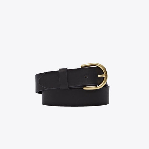 NISOLO Noemi Women's Black Leather Belt
