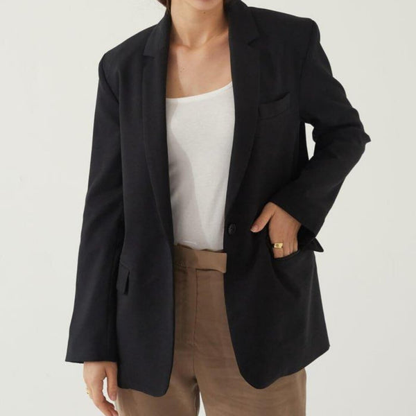 The Oversized Tencel Blazer