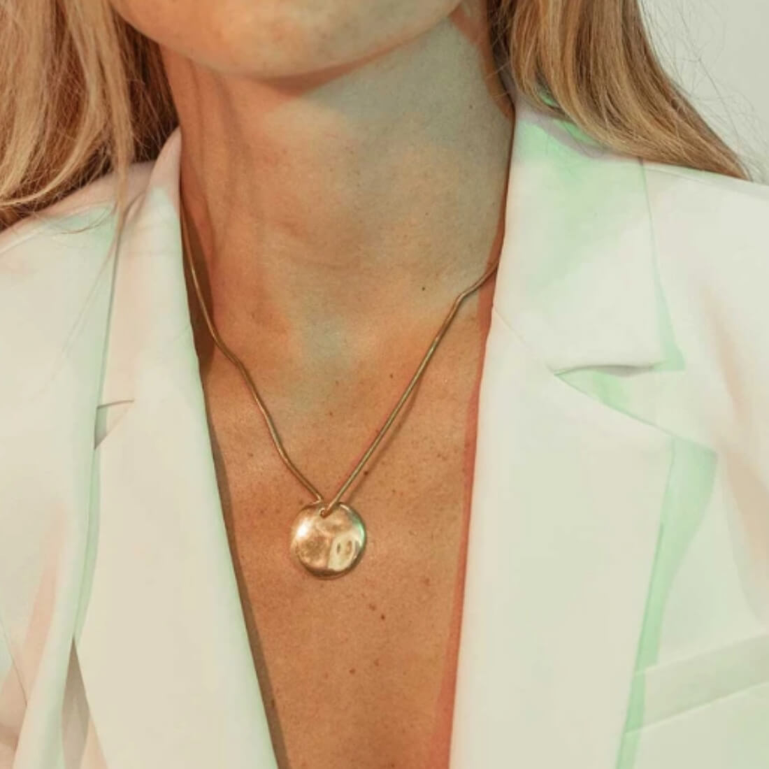 Styled, Ripple Disc Pendant Necklace
