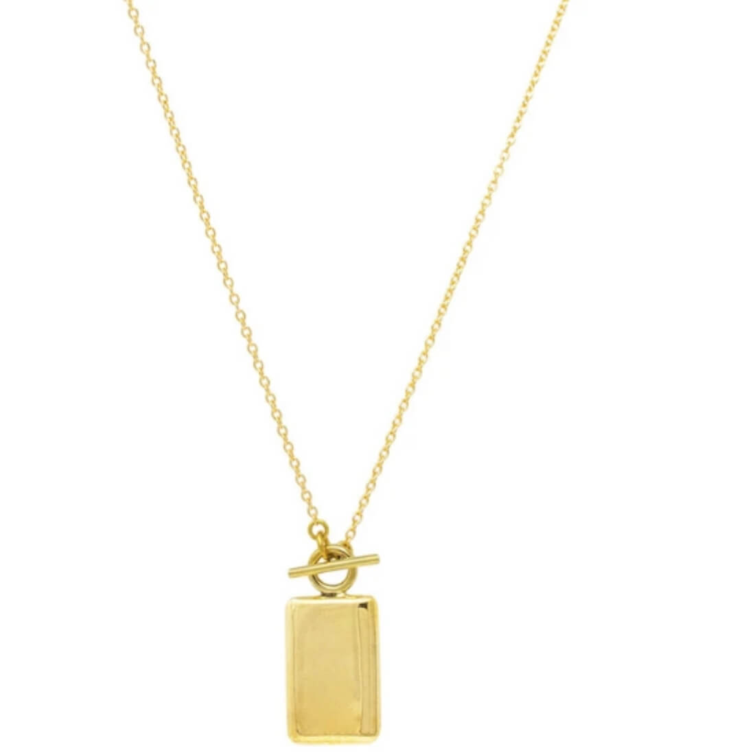 flat lay, Rectangle Medallion Necklace