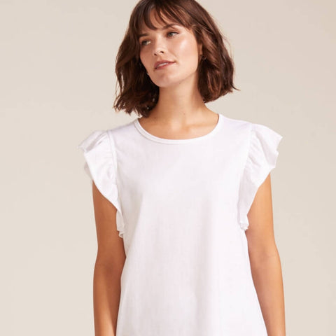 Sleeveless Ruffle Tee