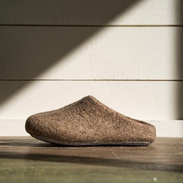 Kyrgies Classic Wool Slippers Low-Back - Oatmeal Mens