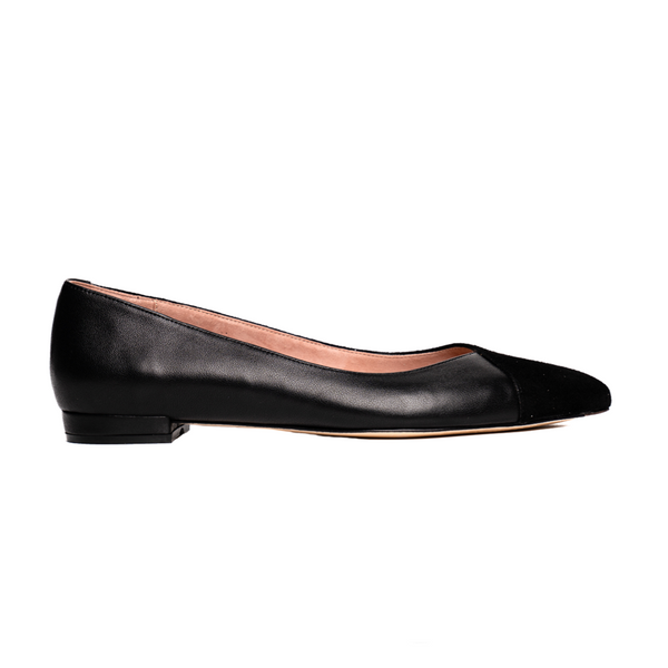 ALLY Black Suede / Leather Flat