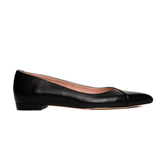ALLY Black Leather Flat