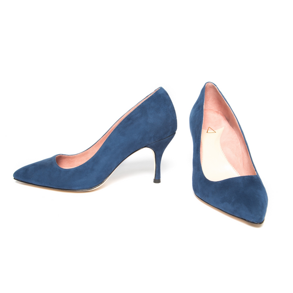 ALLY Noble Navy Suede Pump