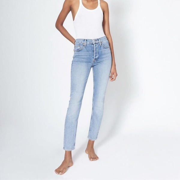 Comfort Stretch High Rise Ankle Crop