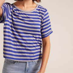 Cropped Roll Sleeve Tee