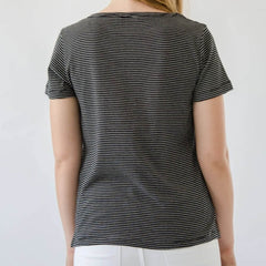 Cotton Crew Striped Tee