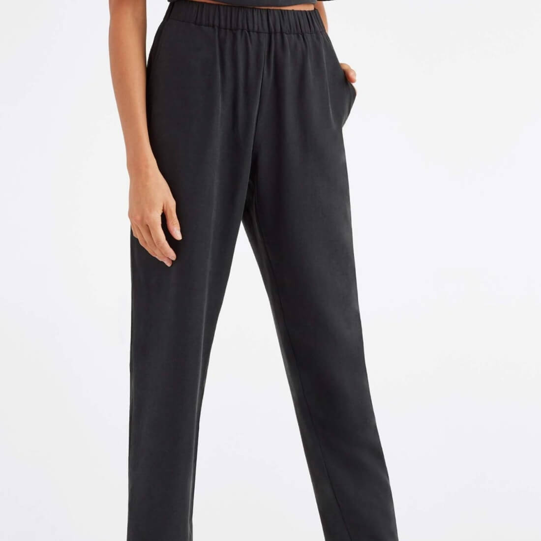 tencel tapered pant