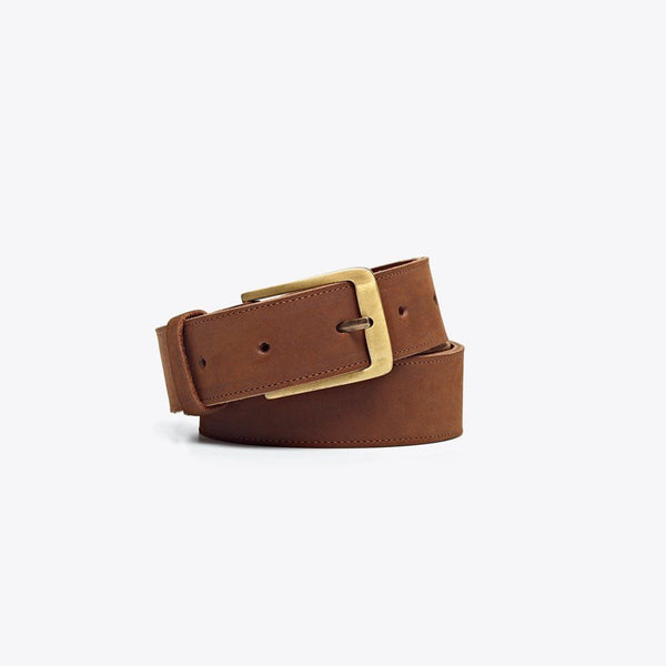 NISOLO Owen Men's Leather Belt Oak