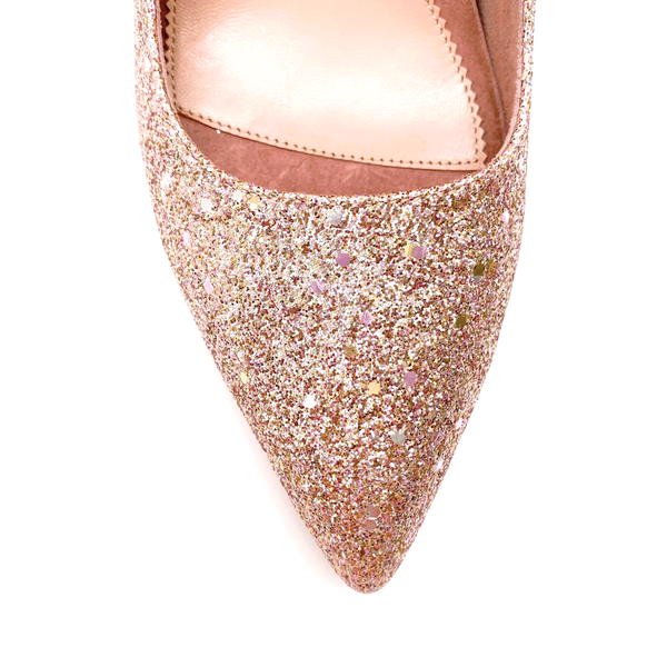 ALLY Rose Gold Blush Pump