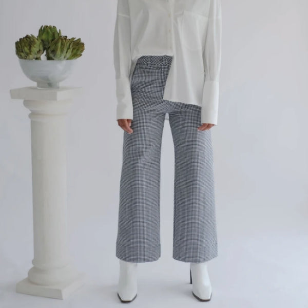 KICK FLARE HIGH WAISTED TROUSERS