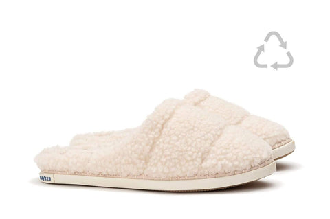 SeaVees Womens SeaChange Cream Fleece Slipper