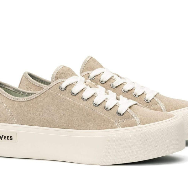 SeaVees Womens Monterey Lace-Up Platform Sneaker