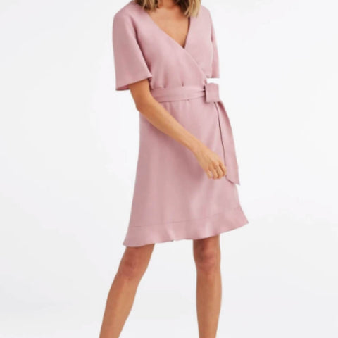 Tiered Wrap Dress