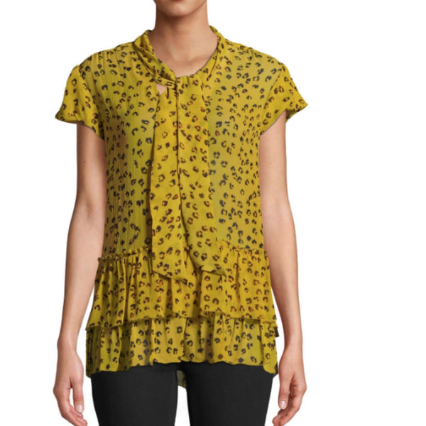 Yellow Leopard Blouse