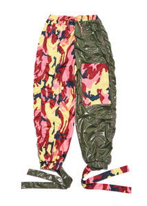 Color Block Camo Pants