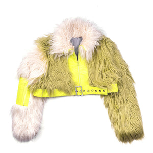 Faux Fur Lime Jacket
