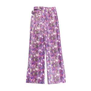 Purple Fusion Cut Out Pants