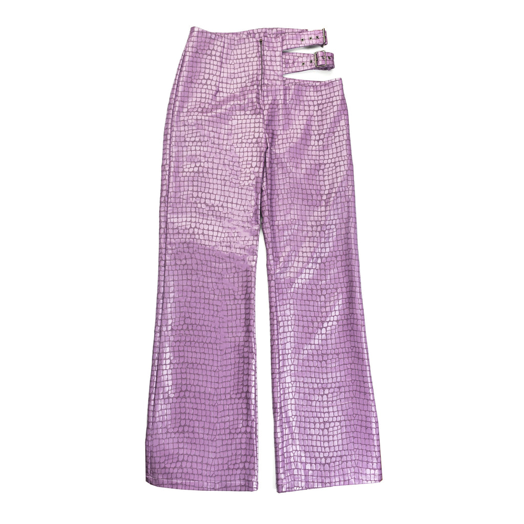 Lilac Tile Cut Out Pants