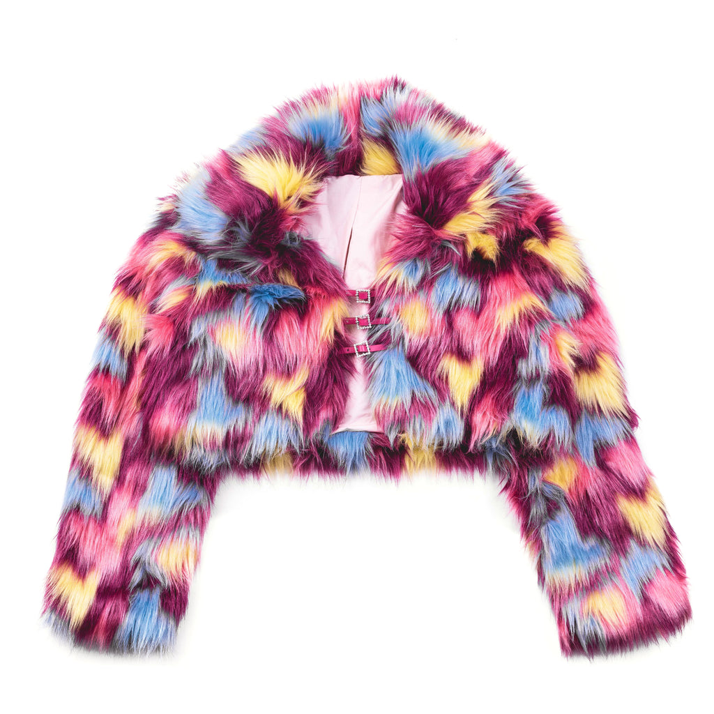 Faux Fur Roxy Crop Jacket