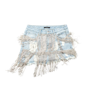 Jina Kim Crystal Denim Skirt