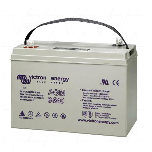 Victron Energy 6V/240Ah AGM Deep Cycle Battery BAT406225084