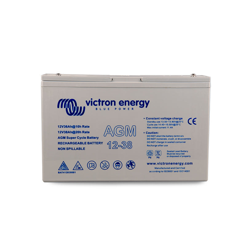 Victron Energy 12V/38Ah AGM Super Cycle Battery (M5) BAT412038081